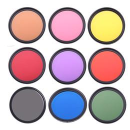 Cameras filter online shopping - 9colors set Full Color filter kit DSLR Camera Lens Filter mm mm mm mm mm mm mm mm Blue Red Orange Lens Filter