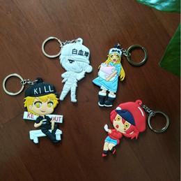$enCountryForm.capitalKeyWord Australia - Cartoon Cells at Work Action Key Chain Silica Gel PVC Figure Keyring Toy Keychain Keyholder Unisex Gifts