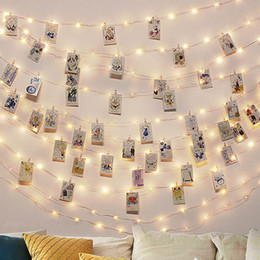 Fairy light battery operated online shopping - Wedding invitations Photo Clip USB LED String Lights Fairy Lights Outdoor Battery Operated Garland Christmas Decoration Party Wedding