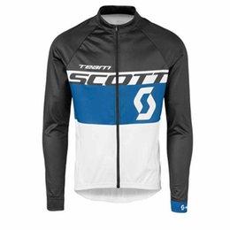 China 2019 SCOTT Team Spring  autumn mens long Sleeves Men cycling jersey bike wear Clothes breathable quick dry cycling clothing Y040402 supplier bike spring suppliers
