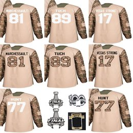 $enCountryForm.capitalKeyWord NZ - Custom Any Name Any Number Mens 2018 Stanley Cup Final Patch 17 Vegas Strong Jonathan Marchessault Alex Tuch 77 Brad Hunt Hockey Jerseys