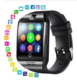 Smartwatch whatSapp online shopping - Bluetooth Smart sports Watch Q18 With Camera Facebook Whatsapp Twitter Sync SMS Smartwatch Support SIM TF Card For IOS Android