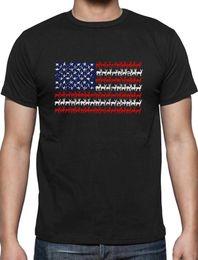 Red Black Grey Shirts Australia - Deer USA Distressed Flag 4th of July Hunters T-Shirt Giftwhite black grey red trousers tshirt