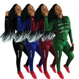 $enCountryForm.capitalKeyWord Australia - Women hoodie pants Tracksuit pullover T Shirt Top + joggers Leggings 2PCS Set autumn Outfits Sportswear Gym Suit S-3XL Champions Plus Size
