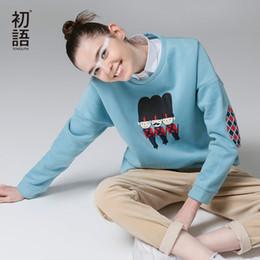 $enCountryForm.capitalKeyWord Australia - Toyouth Autumn Women Sweatshirts Casual Printed Long Sleeve Sweatshirt Loose Round Neck Blue Hoodies Sudadera Mujer Y190814