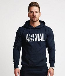gym jacket UK - Muscle ANIMAL Pattern GYM Fitness jogging Hoodie loose comfortable iron squat Hoodie long sleeve outdoor street trendy running jacket