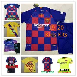 fdff7efd844 219 camiseta maillot de barcelona MESSI Soccer jersey retro Suárez  A.INIESTA DEMBELE COUTINHO fc barcelona Shirt football WOMEN man Kids Kit