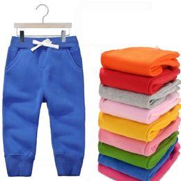 $enCountryForm.capitalKeyWord Australia - Winter Warm Velvet Pants For 1-5 Yeas Babies Boys Girls Casual Sport Pants Jogging Enfant Garcon Kids Children Trousers Kf107