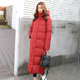 Woman S Parka Australia - 2019 High Quality Parka New Hooded Slim Long Coat White Duck Down Women Winter Down Jacket Thicker Warm Plus Size Female QH267