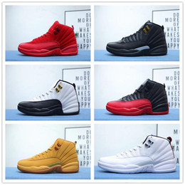 wool shoes NZ - 12 12s Kids Mens Retro Basketball Shoes 2019 New Michigan Wntr Gym Red NYC OVO Wool XII Designer Shoes Sport Sneakers Trainers