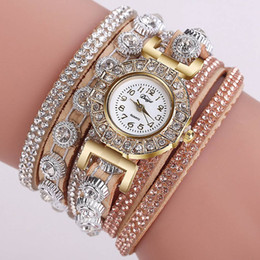 full crystal women watches 2019 - Dropshipping Women Bracelet Watches Luxury Gold Full Crystal Quartz Clock Watches Ladies Simple Vintage Casual Watch dis