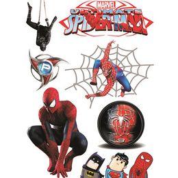 Stickers Bande Dessinée Spider Man Sticker Bande Dessinée Voiture Fenêtre Crack Stickers Personnalisé Room Bar Autocollants Décoratifs 9 Styles GGA1908 en Solde