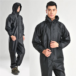 man raincoat motorcycle NZ - Conjoined raincoats overalls motorcycle motorbike fashion raincoat men and women fission rain suit Waterproof Rainsuit