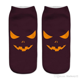 China Free Size 3d Printed Halloween Socks For Women Nice Pop Cartoon Knitted Cotton Socks 12 Patterns cheap nice slippers suppliers