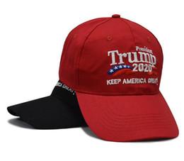 Дизайнер Дональд Трамп 2020 Cap Сохранить Америка Великий Письмо Вышивка Хлопок Изогнутые Бейсболки Взрослые Мужские Женские Спортивные Шляпы Солнца DHL Бесплатно на Распродаже