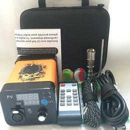 $enCountryForm.capitalKeyWord Australia - 2019 Portable Remote Enail electric Dab nail E nail kits TC PID digital dabber box with Ti Titanium quartz nail for glass bong