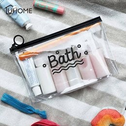 Discount fabric phone cases - Clear Cosmetic Bags Frosted PVC Toiletry Bag Make Up Storage Organizer Beauty Case Lady Wash Bags Waterproof Phone Pocke