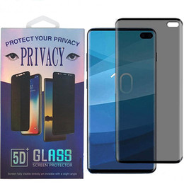 privacy screen protector note Australia - Case friendly Curved Privacy Tempered Glass Screen Protector for Samsung Galaxy S10 S9 S8 Plus Note 8 NOTE 9 NOTE 10 PRO With Retail Package