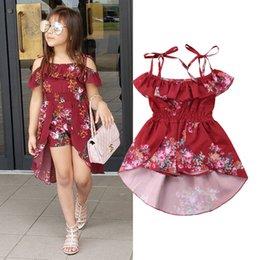 $enCountryForm.capitalKeyWord Australia - Infant Toddler Baby Girls Kids Floral Off Shoulder Romper Jumpsuit