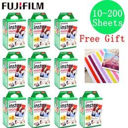 10-200 fogli Fujifilm Instax Mini Film giuntati Bianco 10 20 40 60 80 100 200 fogli per FUJI immediata instax mini 8 9 fotocamera in Offerta