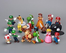 $enCountryForm.capitalKeyWord Australia - 18Pcs Set Super Mario Bros Yoshi Figure 3-7cm Mario Luigi Yoshi Donkey Kong PVC Toys Plastic Dolls Action Figures Kids Gifts L148