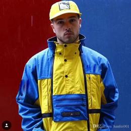 $enCountryForm.capitalKeyWord Australia - 16ss Box Logo Steep Tech Hooded Jacket Blue & Yellow Men Women Pullover Coats Fashion Outerwear Top Quality Black White Hflsjk165
