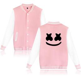 dj stands 2019 - Men S Clothing Marshmello Baseball Uniform Dj Skrille New Winter Casual Coat Baseball Jackets Coat Cardigan Lovers Unifo