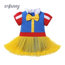 Wholesale Baby Girls Clothes Infant Party Dresses For Cinderella Dress hair band Girl babies Cartoon Kid s Wear