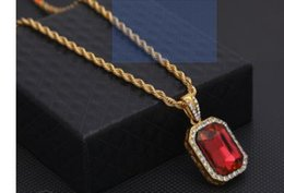 wholesale hip hop jewelry pendants Australia - The latest fashionable and attractive trend in Europe and America, hip-hop mini-diamond pendant, hip-hop men's Jewelry Necklace Jewelry