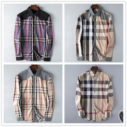 15bcf31969 2019 Nueva Marca Primavera Otoño Casual Camisa de manga larga de los hombres  de algodón de alta calidad formal de negocios Plaid Mens Dress Shirts Plus  Size ...