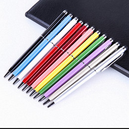 $enCountryForm.capitalKeyWord Australia - Universal 2 in 1 Tablet Capacitive Stylus Pen With Ball Point Pen Touch Screen Pen for Iphone for Samsung Xiaomi