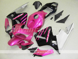 Black Pink Honda NZ - 3Gifts New ABS motorcycle Full Fairings Kits+Tank cover Fit For HONDA CBR600RR F5 2003 2004 03 04 600RR CBR600 bodywork set nice pink black
