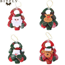 $enCountryForm.capitalKeyWord Australia - BITFLY Christmas Non-woven fabric doll Christmas tree pendants Elk Santa Claus Snowman Bear Ornament Xmas Party Supply