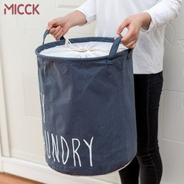 baskets for dirty clothes NZ - MICCK Home collapsible laundry basket child toy storage laundry bag for dirty clothes hamper organizer Large Laundry bucket Y200111