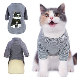 $enCountryForm.capitalKeyWord Australia - Spring Summer Pet Cat Clothes For Cats Dogs Fashion Printed Kitty Kitten T shirt Shirts Soft Cotton Pet Cat Dog Vest Clothing