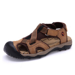 $enCountryForm.capitalKeyWord UK - 2018 Men sandals genuine leather summer shoes men casual flat beach sandals size 38 ~ 44 #57064