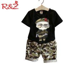 $enCountryForm.capitalKeyWord Australia - R&Z 2018 summer new children's suit children's cartoon short-sleeved camouflage