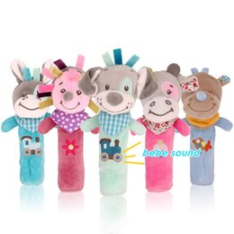 $enCountryForm.capitalKeyWord Australia - Bearoom Baby Rattle Mobiles Cute Baby Toys Cartoon Animal Hand Bell Rattle Soft Toddler Oyuncak Plush Bebe Toys 0-12 Months