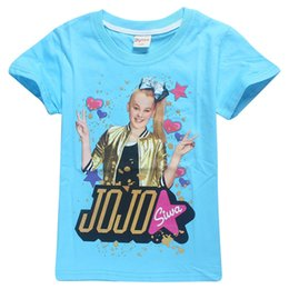 Infant Boys Fashion Australia - Fashions jojo siwa girls tshirt Embroidery Infant Cotton Children Boys Tee Cartton Jojo siwa bow Girls Short Sleeve T-shirts For Girls