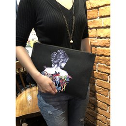 baochao bags 2019 - Hand bag female new printing bag BaoChao female hand wan fashion envelope large capacity caught cheap baochao bags