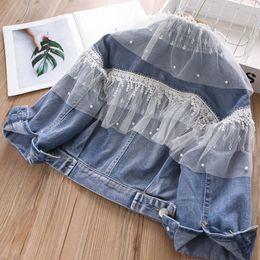 $enCountryForm.capitalKeyWord Australia - New 2019 autumn denim girls coat lace kids jacket soft princess coats kids designer clothes girls outwear kids boutique clothing A7428