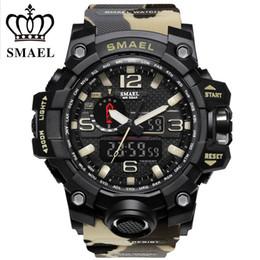 $enCountryForm.capitalKeyWord Australia - 2017 SMAEL Camouflage Military Digital-watch Men's G Style Fashion Sports Shock Army Watch LED Electronic Wrist Watches for Men C19010301