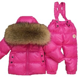 $enCountryForm.capitalKeyWord Australia - 2018 Children Ski Suit Russian Winter Baby Boy Suit Duck Down Children Jacket for Girl Coat Overalls Warm Jacket Kid Girl SetMX190916