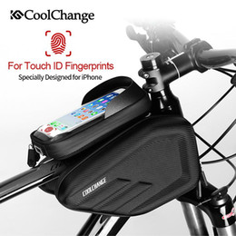 $enCountryForm.capitalKeyWord Australia - CoolChange Bicycle Bag Frame Front Head Top Tube Waterproof Cycling Bag Double IPouch 6.0 6.2 Inch Touch Screen Bike Accessories