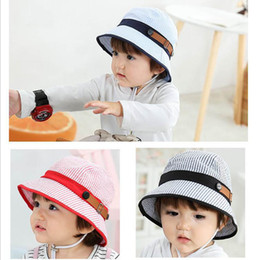 82e4ddfb2f3 Baby Hat baby Bucket Hat 2019 new Spring Summer stripe princess Baby Girl  Hats cotton Girls Caps Boys Cap Infant hats Toddler Sun Hat A3446