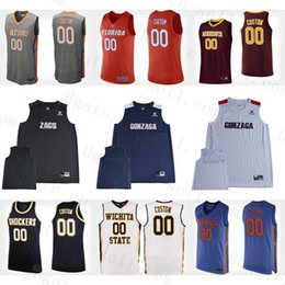 basketball jersey numbers Australia - Custom Gators Gophers Gonzaga Shockers 2019 College Basketball Personalized Stitched Any Name Number Mens Jerseys