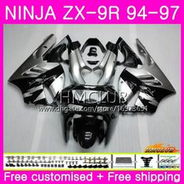 $enCountryForm.capitalKeyWord Australia - Bodys For KAWASAKI NINJA ZX 9R ZX900 ZX-9R 94 95 96 97 Kit Silvery black 69HM.12 ZX 9 R 94 97 900CC ZX9R 1994 1995 1996 1997 Full Fairing