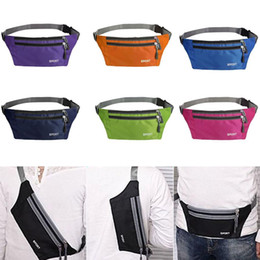 Wholesale Fashion New Unisex Waterproof Running Belt Fanny Pack Waist Pouch Outdoor Sport Camping Hiking Zip Bag