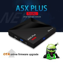 Dual banD car online shopping - A5X Plus Smart Android TV Box RK3328 K HDR10 USB3 GB GB dual band Wifi LAN Bluetooth HD Media Player A53 Smart mini TV Box