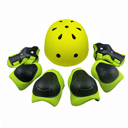 $enCountryForm.capitalKeyWord Australia - AIBOULLY 7 pcs set Protector Helmet Knee Elbow Wrist Pads Set For Child Kids Outdoor Sporting Skating Bicycle Protective